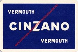 Vermouth CINZANO - 1 Joker Kaart/carte/card - Cartes à Jouer Classiques