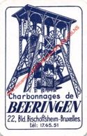CHARBONNAGES DE BEERINGEN - Bruxelles - Beringen - 1 Joker Kaart/carte/card - Cartes à Jouer Classiques