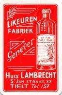 Huis Lambrecht - Likeuren Fabriek - Tieltse Oude Klare - Genever Jenever - 1 Speelkaart - 1 Carte à Jouer - 1 Playing Ca - Cartes à Jouer Classiques