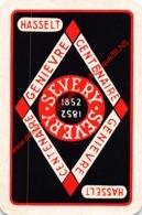 SEVERY - Hasselt - Genievre Centenaire - 1 Speelkaart - 1 Carte à Jouer - 1 Playing Card. - Cartes à Jouer Classiques
