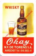 OKAY Whiskey - NV DE TORENS - Aarschot - 1 Speelkaart - 1 Carte à Jouer - 1 Playing Card. - Cartes à Jouer Classiques
