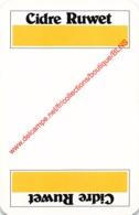 CIDRE RUWET - 1 Speelkaart - 1 Carte à Jouer - 1 Playing Card. - Cartes à Jouer Classiques