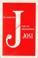 JOSI - Verzekeringen Assurances - 1 Joker Kaart/carte/card - Cartes à Jouer Classiques