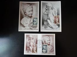 Baden Baden La Croix Rouge Et La Poste Baden Baden Du 31 Mars 1951 Ensemble De 3 Cartes Maximum - Maximumkarten