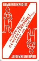 GEMEENTEKREDIET - 1 Speelkaart - 1 Carte à Jouer - 1 Playing Card. - Cartes à Jouer Classiques