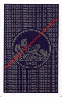 Verzekeringsmaatschappij De Schelde - Cie D'Assurance De L'Escaut - 1821 - 1 Speelkaart - 1 Carte à Jouer - 1 Playing Ca - Playing Cards (classic)