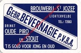 GEBR. BEVERNAGIE - BROUWERIJ ST JOZEF - Oude Piro En Stout - 1 Speelkaart - 1 Carte à Jouer - 1 Playing Card. - Playing Cards (classic)