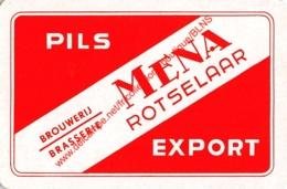 Brouwerij Brasserie MENA - Pils Export - Rotselaar - 1 Speelkaart - 1 Carte à Jouer - 1 Playing Card. - Cartes à Jouer Classiques
