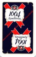 1664 De Kronenbourg - 1 Speelkaart - 1 Carte à Jouer - 1 Playing Card. - Cartes à Jouer Classiques