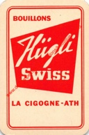 HÜGLI Swiss - Bouillons - La Cigogne - Ath - 1 Speelkaart - 1 Carte à Jouer - 1 Playing Card. - Cartes à Jouer Classiques