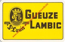 CAVE ST LOUIS KELDER Gueuze Lambic - 1 Speelkaart - 1 Carte à Jouer - 1 Playing Card. - Cartes à Jouer Classiques