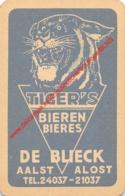 TIGER'S Bieren Bieres - DE BLIECK Aalst Alost - 1 Speelkaart - 1 Carte à Jouer - 1 Playing Card. - Cartes à Jouer Classiques