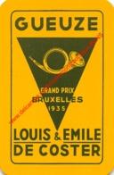 LOUIS EMILE DE COSTER Geueze - Grand Prix Bruxelles 1935 - 1 Speelkaart - 1 Carte à Jouer - 1 Playing Card. - Cartes à Jouer Classiques