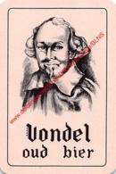 VONDEL OUD BIER - 1 Speelkaart - 1 Carte à Jouer - 1 Playing Card. - Cartes à Jouer Classiques