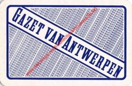 GAZET VAN ANTWERPEN - ZONDAGSVRIEND - GAZET VAN MECHELEN - 1 Speelkaart - 1 Carte à Jouer - 1 Playing Card. - Cartes à Jouer Classiques