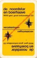 DE NOORDSTAR EN BOERHAAVE - Gent - 1 Speelkaart - 1 Carte à Jouer - 1 Playing Card. - Cartes à Jouer Classiques