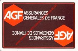 AGF - Assurances Generales De France - 1 Speelkaart - 1 Carte à Jouer - 1 Playing Card. - Cartes à Jouer Classiques