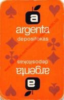 ARGENTA Depositokas - 1 Speelkaart - 1 Carte à Jouer - 1 Playing Card. - Cartes à Jouer Classiques