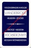 VANDEBROEK Verzekeringskantoor - Heusden-Zolder - 1 Speelkaart - 1 Carte à Jouer - 1 Playing Card. - Cartes à Jouer Classiques
