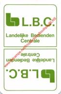 L.B.C. Landelijke Bedienden Centrale - 1 Speelkaart - 1 Carte à Jouer - 1 Playing Card. - Cartes à Jouer Classiques