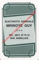 MINNOYE GUY - Electricite Generale - Ramillies - 1 Speelkaart - 1 Carte à Jouer - 1 Playing Card. - Cartes à Jouer Classiques