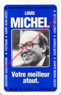 LOUIS MICHEL - Melin Lathuy Jodoigne Dongelberg Sainte Marie-Geest Pietrain - Politiek Politique - 1 Speelkaart - 1 Cart - Cartes à Jouer Classiques