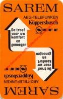 SAREM - AEG-TELEFUNKEN KÜPPERBUSCH - 1 Speelkaart - 1 Carte à Jouer - 1 Playing Card. - Cartes à Jouer Classiques