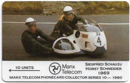 Isle Of Man - Schauzu / Schneider - TT Racers 1990 - 7IOMA - 1991, 6.000ex, Used - Isla De Man