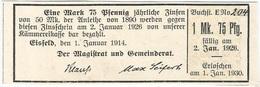 Alemania (BONOS) - Germany 1.75 Mark 1-1-1914 Eisfeld Ref 17 - [ 2] 1871-1918 : Empire Allemand
