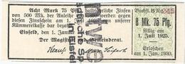 Alemania (BONOS) - Germany 8.75 Mark 1-1-1914 Esifeld Ref 20 - [ 2] 1871-1918 : Imperio Alemán