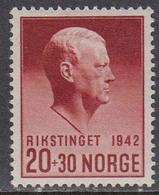 Norway 1942 - RIKSTINGET 1942, Mi-Nr. 271, MNH** - Norway