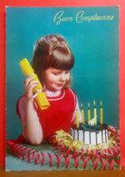 Bambina Con Torta - Pasticceria - Buon Compleanno CARTOLINA  Non Viaggiata - Geburtstag