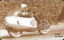 Isle Of Man - Chip - TT Racers 97 - Bob McIntyre, 3£Mp, 1997, 5.000ex, Used - Isla De Man