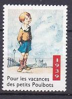 Timbre Erinnophilie  Pour Les Vacances Des Petits Poulbots 1939 - Erinnophilie