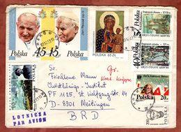 Luftpost, Papst Johannes Paul, Krakau Nach Meitingen 1989 (77253) - 1944-.... Republik
