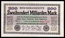 DEUTSCHLAND - ALLEMAGNE - 200 Milliarden Mark Reichsbanknote - 1923 - P121 - XF/SUP - [ 3] 1918-1933 : República De Weimar