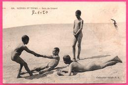 Scènes Et Types - Bain De Lézard - Hommes Nus - Garçon - Garçons - Nu - Animée - Edit. P.S. - 1920 - Nordafrika, Maghreb