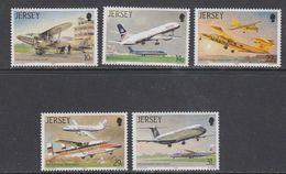 Jersey 1987 Airplanes 5v ** Mnh (43989) - Jersey