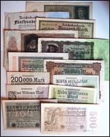 DEUTSCHLAND - ALLEMAGNE - Lot 13 Billets 1922-1923 - [ 3] 1918-1933 : República De Weimar