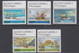 Jersey 1987 Adventurers / D'Auvergne  5v ** Mnh (43989A) - Jersey