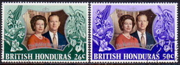 British Honduras 1972 SG #341-42 Compl.set Used Royal Silver Wedding - Brits-Honduras (...-1970)