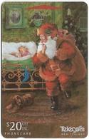New Zealand - Santa In Bedroom Christmas, 371DO,  20$, 1996, 40.750ex, Used - Neuseeland