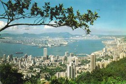 HONG KONG-KOWLOON FROM THE PEAK- VIAGGIATA     FG - Cina (Hong Kong)
