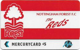 UK (Paytelco) - Football Clubs - Nottingham Forest Logo - 3PFLQ, 5.900ex, Used - Ver. Königreich