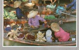 THE FLOATING MARKET AT DAMNERNSADUOK IN RAJCHABURI-THAILAND- VIAGGIATA     FG - Tailandia