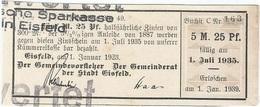 Alemania (BONOS) - Germany 5.25 Mark 1-1-1923 Eisfeld Ref 21 - [ 3] 1918-1933 : República De Weimar