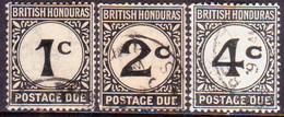 British Honduras 1923 SG #D1-D3 Compl.set Used Postage Due CV £24 - British Honduras (...-1970)