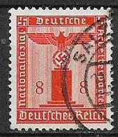 GERMANIA REICH IMPERO 1942  FRANCOBOLLI DI SERVIZIO AQUILA E CROCE UNCINATA SENZA FILIGRANA UNIF.121 USATO VF - Service