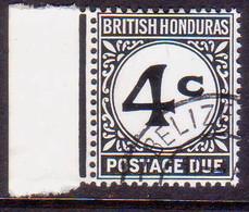 British Honduras 1956 SG #D3c 4c Used Postage Due CV £22 Chalk-surfaced Paper - British Honduras (...-1970)