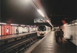 Photo Originale METRO De MARSEILLE Station Désirée Clary Le 20 Avril 1989 - Trains